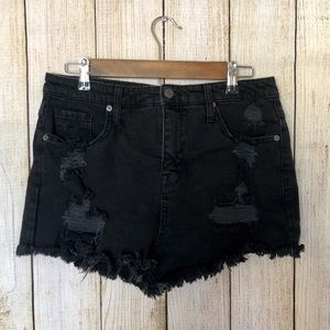 Mossimo | Distressed Jean Shorts